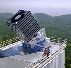 The 2.5-meter Sloan Foundation Telescope at Apache Point Observatory. Image courtesy of the Sloan Digital Sky Survey.