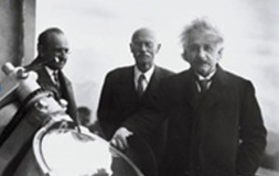 Credit: Image courtesy of The Observatories of the Carnegie Institution for Science. Einstein at Mt. Wilson Observatory, Carnegie Institution of Science.