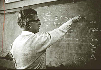 Hoyle in and around the Institute of Theoretical Astronomy building, c. 1968. By permission of the Master and Fellows of St John's College, Cambridge.
