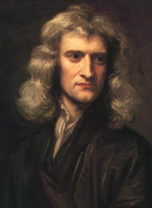 Portrait of Isaac Newton, aged 46, painted by Godfrey Kneller in 1689.